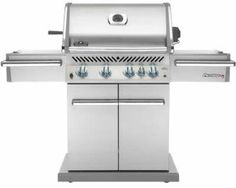 You'll love outdoor cooking with the Napoleon Prestige 85000 BTU stainless steel propane grill. This grill offers multiple amenities. Napoleon, Weber Gas Grills, Grill Sale, Best Gas Grills, Infrared Grills, Best Charcoal Grill, Built In Grill, Stainless Steel Doors, Outdoor Kitchen Design