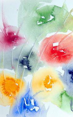 Watercolour 'Last Flowers' von Maria Inhoven bei artflakes.com als Poster oder Kunstdruck