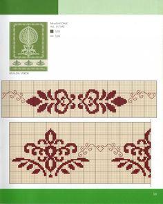 Cross Stitch Borders, Crochet Borders, Cross Stitch Samplers, Cross Stitch Designs, Cross Stitching, Cross Stitch Embroidery, Embroidery Patterns, Cross Stitch Patterns, Swedish Weaving