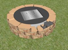 diy outdoor furniture   DIY-gas-fire-pit-kit-stainless-steel-burner-bowl   Official Outdoor ...