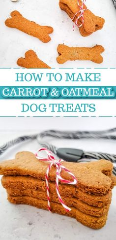 These easy carrot and oatmeal dog treats are made with some of your favorite carrot and oatmeal ingredients, but healthy for your fur baby! Homemade Dog Cookies, Homemade Peanut Butter, Homemade Dog Food, Easy Dog Treat Recipes, Healthy Dog Treats, Dog Food Recipes, Make Dog Food, Pumpkin Dog Treats, Dog Snacks