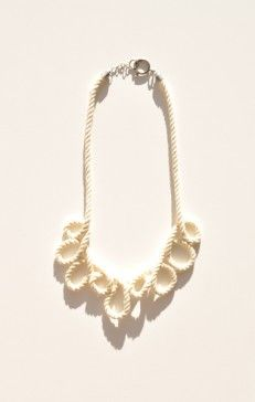 Michelle Lane repeated loop necklace.