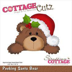 CottageCutz Die - Santa Bear