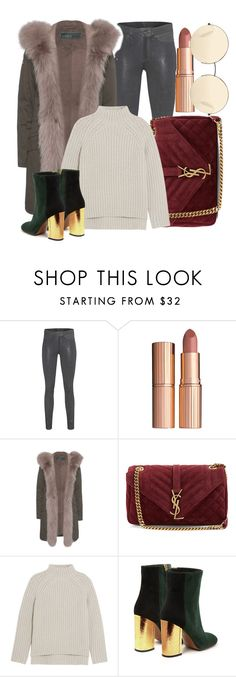 """Untitled #3343"" by ekozlova ❤ liked on Polyvore featuring rag & bone, Charlotte Tilbury, Yves Salomon, Yves Saint Laurent, Theory, Marni and Victoria Beckham"