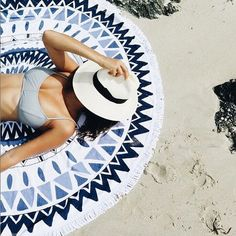 Round Beach Towels | sheerluxe.com
