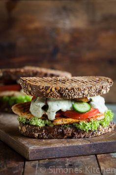 Sandwich met gegrilde kip