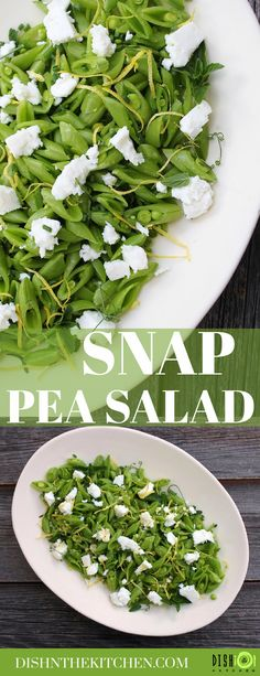 This sweet and zesty Snap Pea Salad features locally made goat feta, fresh mint, and bright lemon zest. Enjoy this delicious salad tonight in less than 20 minutes! Healthy Potato Recipes, Healthy Potatoes, Healthy Salad Recipes, Vegan Side Dishes, Vegetable Side Dishes, Snap Pea Salad, Side Recipes, Yummy Recipes, Snap Peas