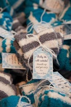 """Host an adorable """"Baby, It's Cold Outside"""" baby shower this winter. We love this idea!"""