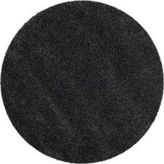 Safavieh Indoor/Outdoor Area Rug: Safavieh Rugs Milan Shag Dark Grey 5 ft. x 5 ft. Round SG180-8484-5R