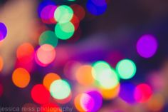 Abstract Colorful Neon Bokeh Art Print by jessicareisspix on Etsy