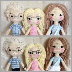 Crocheted dolls  Crocheted people