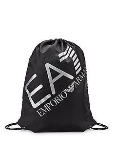 EA7 EMPORIO ARMANI DRAWSTRING DUFFLE BAG. #ea7emporioarmani #bags #shoulder bags #polyester #