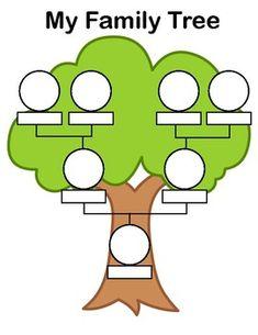 Ideas Family Tree Crafts Preschool Free Printable For 2019 Family Tree Drawing, Family Tree Book, Family Tree For Kids, Trees For Kids, Family Tree With Pictures, Book Tree, Tree Tree, Family Trees, Family Tree Worksheet