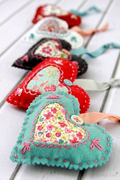Fabric Valentine Sachets, Liberty of London print stash