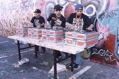 originators of Turntablist Bands! Dj Booth, Best Dj, Bands, Rock, Table, Home Decor, Decoration Home, Room Decor, Skirt