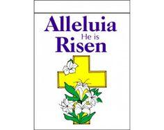 Alleluia He Is Risen Flag