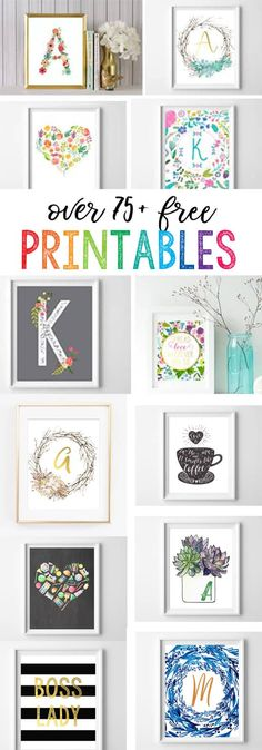 Free Printables For The Home (Over 50 Home, Nursery, & Kitchen Prints) | Burlap & Blue