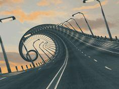 El desván del Freak: Una carretera a lo Tim Burton (ANIMACIÓN)