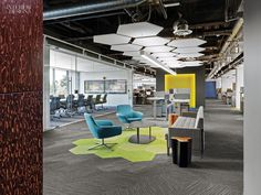 Coalesse Bob Lounge Chairs and Millbrae Contract Lounge at SurveyMonkey. Design by Tim Murphy Design Associates.