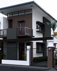 Beautiful minimalist home design exterior ideas furniture is one of images from minimalist house design exterior. Find more minimalist house design exterior images like this one in this gallery 2 Storey House Design, Bungalow House Design, House Front Design, Tiny House Design, Two Storey House, Minimalist House Design, Minimalist Home, Minimalist Interior, Minimalist Bedroom