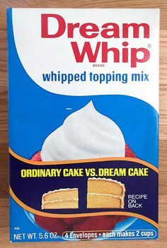 Vintage Sealed General Foods Dream Whip whipped topping mix Box by gregg_koenig, via Flickr