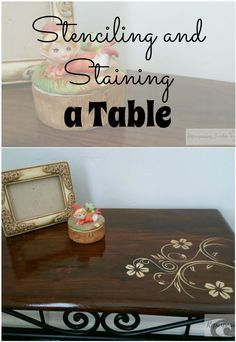 How to Stencil and Stain a Piece of Furniture