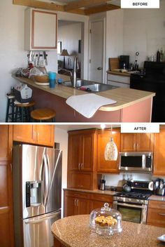Fan photos from Marion, who is excited about her newly remodeled kitchen. (Maple KraftMaid cabinets in Cinnamon)
