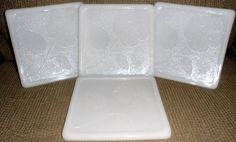1950s MCKEE MILK WHITE Glass Heat Resistant Trivets / by BYGONERA