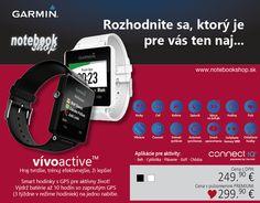 vívoactive sú ultra tenké, ľahké smart hodinky s dotykovým displejom s vysokým rozlíšením. Vďaka GPS a aplikáciám pre beh, cyklistiku, golf, plávanie a sledovanie dennej aktivity zaznamenajú štatistiky, ktoré si môžete pozrieť aj keď práve nemáte pri sebe smartfón. Môžete ich používať samostatne, avšak po spárovaní s vaším smartfónom budete dostávať diskrétne upozornenia na prichádzajúci hovor, sms a iné notifikácie z kalendára, sociálnych sietí či iných mobilných aplikácií. Dostupné vo…