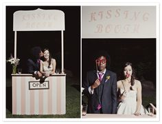 wedding kissing booth/photo booth