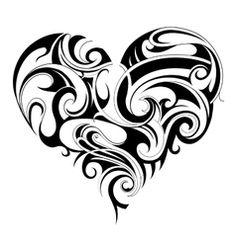 Heart shape tattoo vector