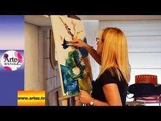 Clase para componer una obra abstracta en acrílico con espátula (I) - YouTube