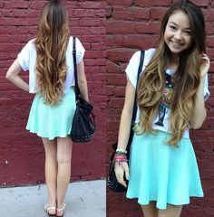 Love the flowy skirt! And her hair is gorgeous. (Stilababe09 off YouTube)