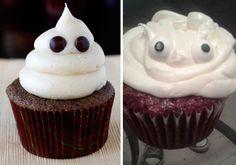 Ghost Cupcake Ghost Cake, Ghost Cupcakes, Baking Fails, Halloween Baking, Funny Halloween, Halloween Treats, Halloween Party, Cooking Humor, Cooking Games
