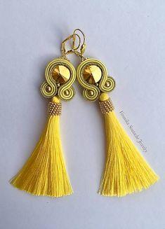 VeronikaSoutache / Soutache earrings / Ručne šité šujtášové náušnice (Suzy)