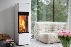 Ideen für Kamin - weißer Ofen - Wohnzimmer - Livingroom - Fireplace