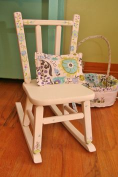 Adorable personalized baby rocker with design you choose and name hand painted. | Personalized-Baby-Gifts | Pinterest | Baby rocker Unique baby gifts and ... & Adorable personalized baby rocker with design you choose and name ...