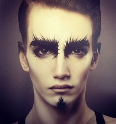 Heavy brows to darken faces. Adds shadow