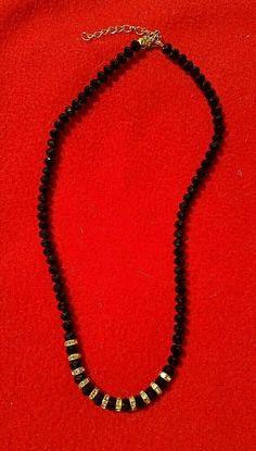Joe Cool Necklace Black Havana Flat Saucer Bead Made with Wood