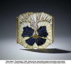 Rene Lalique Plique-a-Jour Enamel and Diamond Plaque de Cou with brilliant cut and rose cut diamonds. By Rene Lalique, Paris Bijoux Art Nouveau, Art Nouveau Jewelry, Jewelry Art, Vintage Jewelry, Fine Jewelry, Jewelry Design, Opal Jewelry, Vintage Clothing, Jewelry Ideas
