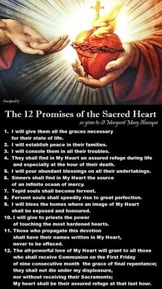 Thought for the Day – 16 October - The Twelve Promises of Devotion to the Sacred Heart I will give them all the graces necessary for their state of life. I will establish peace in their families. I will console them in all their troubles. Novena Prayers, Bible Prayers, Catholic Prayers, Night Prayer Catholic, Catholic Beliefs, Catholic Quotes, Religious Quotes, Jesus Prayer, Faith Prayer
