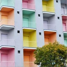 Coloured balconies
