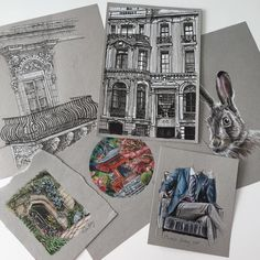 Sending these off to their new homes today... still many more originals available to buy message me if interested #art #drawing #pen #sketch #illustration #linedrawing #artforsale #original #originalartwork #hare #architecture #fashion