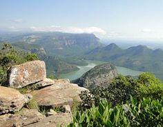Kyk net die wonderskone uitsig van die Blyde Rivier Canyon in  Limpopo.