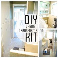 DIY Cabinet Transformations Kit www.BrightGreenDoor.com