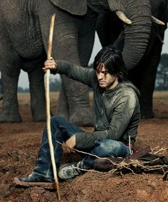Jared Leto Looking Sexy With Elephants