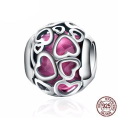 Cheap jewelry making charms, Buy Quality charms jewelry making directly from China jewelry charms Suppliers: 925 Sterling Silver Cerise Encased In Love, Cerise Crystal Openwork Heart Beads Fit Charm Bracelet Jewelry Making Bracelet Style Pandora, Pandora Bracelets, Jewelry Bracelets, Jewelry Watches, Necklaces, Argent Sterling, Sterling Silver, Love Charms, Heart Jewelry