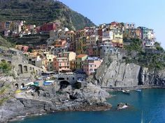 Cinque Terre, Italy (The town is Manarola, shot from Lover's Walk)