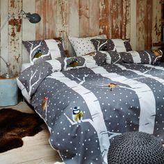 Essenza Birdy Flannel Duvet Cover Set