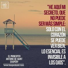 No puede ser más simple ¡Lo esencial es invisible a los ojos! Ingresa a www.despechada.com.